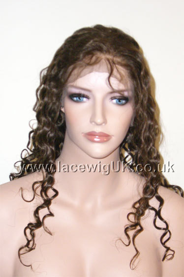 Curly 16inch Color 4 Full Lace Wig